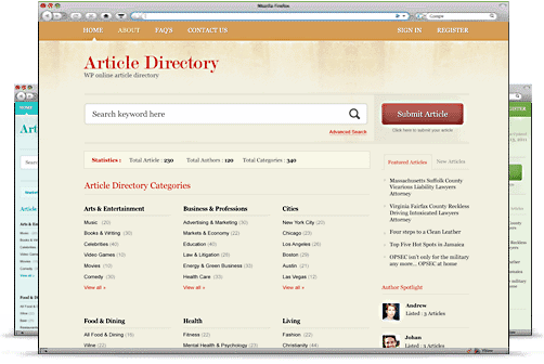 Article Directory WordPress theme