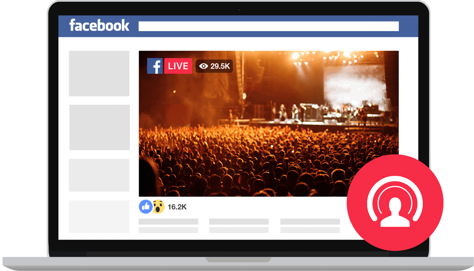 Live Facebook Screen recording