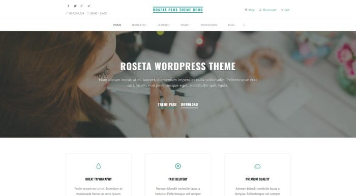 Roseta is a free WordPress theme from CryoutCreations.