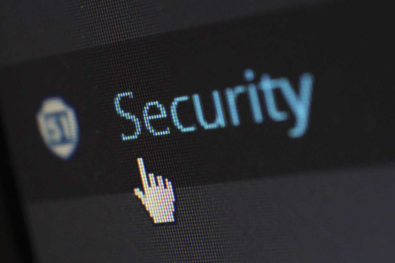 Security button in WordPress