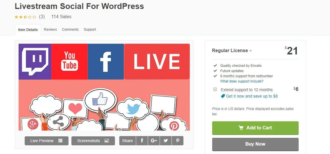Livestream Social For WordPress
