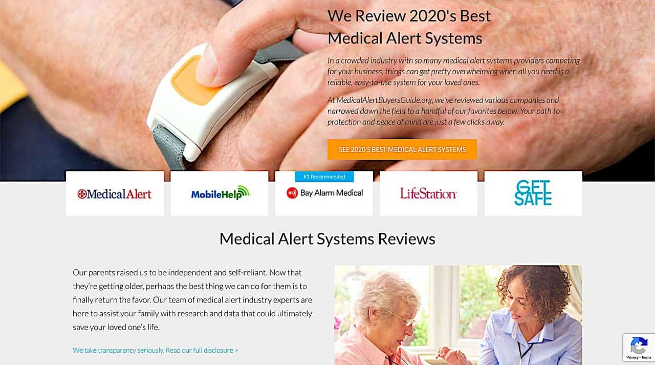 Medical Alert Buyer's Guide Site