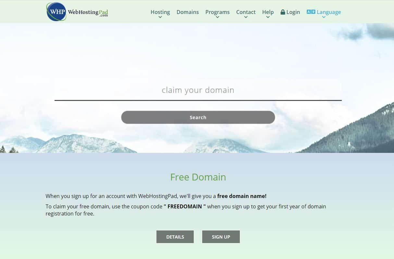 WebHostingPad Domain