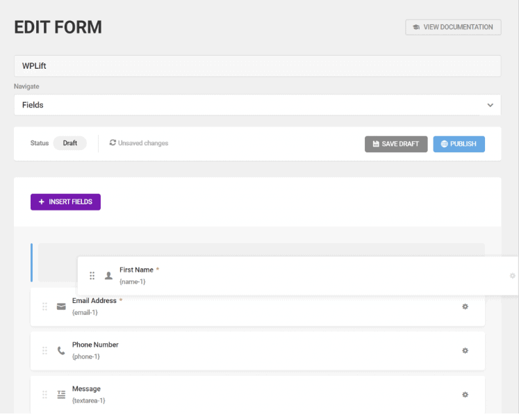 Forminator Edit Form