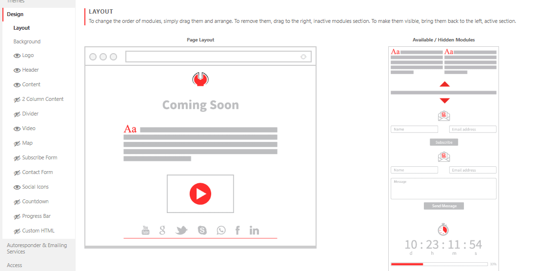 Coming Soon & Maintenance Mode Layout