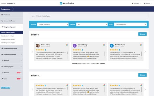 Trustindex - embed your reviews easily on your website