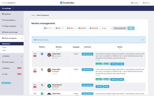 Trustindex - set up an email alert