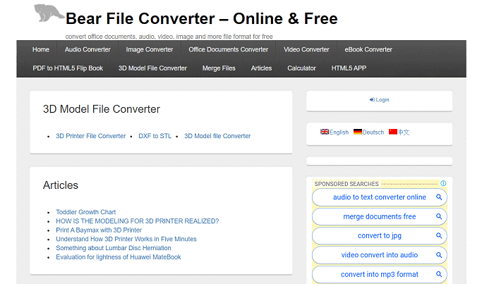 Bear File Converter